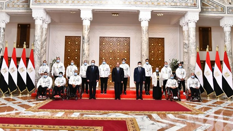 Egypt's Sisi honors Egyptian medal winners of the 2020 Tokyo Paralympics