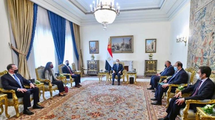 Egypt's Sisi, U.S. National Security Advisor discuss Ethiopian Dam, Libyan elections