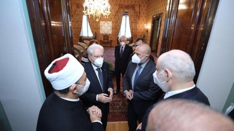 Italian President receives Egypt's Grand Imam, hails Tayyeb - Pope Francis meetings