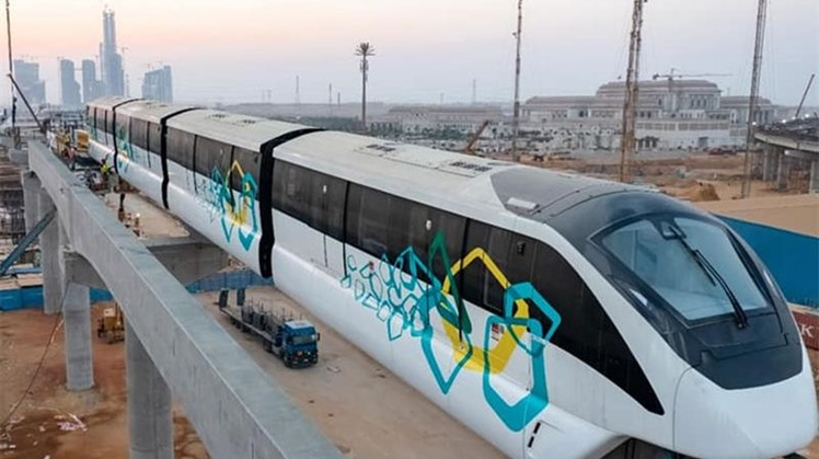 Egypt installs first monorail in the New Administrative Capital