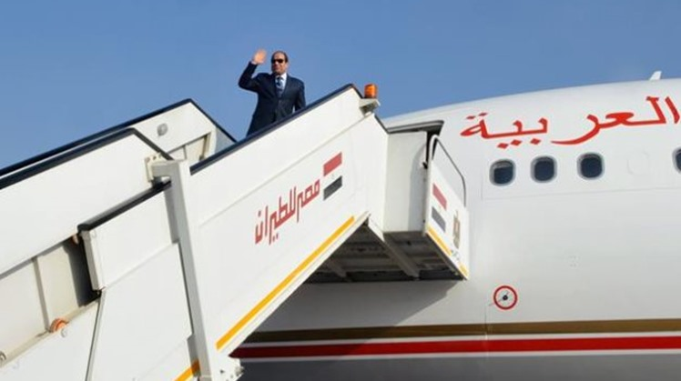 Egypt's Sisi arrives in Cairo after participating in Visegrad Group summit in Budapest