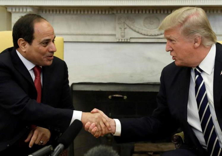 FILE - Sisi meets with Trump