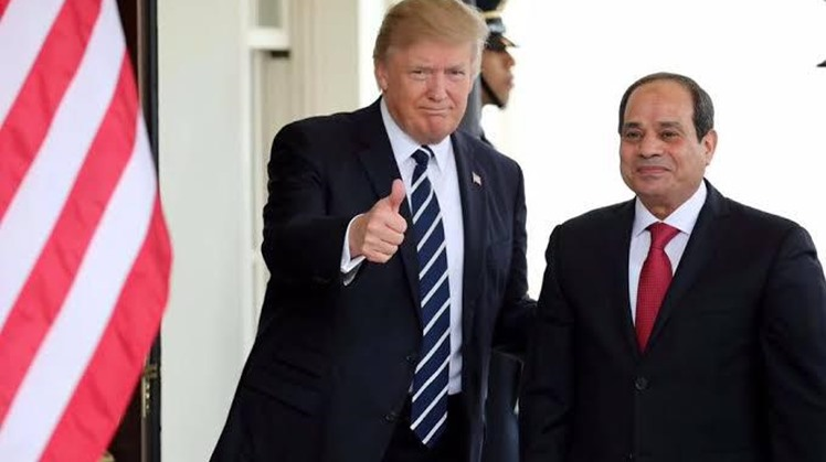President Abdel Fatah al-Sisi during his meeting with his U.S. counterpart Donald Trump in New York