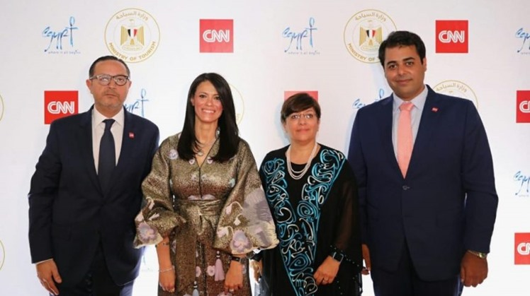 Egypt's Minister of Tourism Rania El-Mashat and representatives from CNN as two parties embark on deal to promote tourism (Photo Courtesy of CNN website)