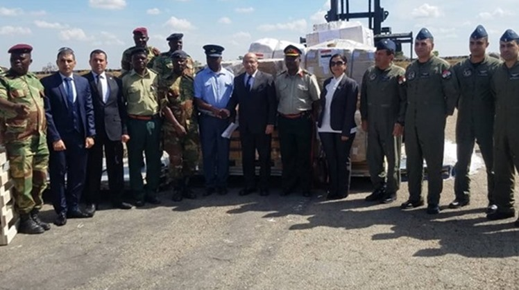 Two Egyptian military planes carrying aid to face the aftermath of the hurricane that hit Mozambique, Malawi and Zimbabwe were received by Egyptian Ambassador to Zimbabwe Mohamed Fahmy on Wednesday.