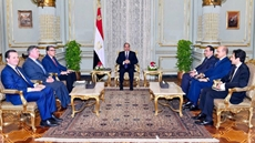 Egypt's President Abdel Fattah al-Sisi held a meeting with US Secretary of Energy, Rick Perry, at Montazah Palace in Alexandria on Thursday, where the US official hailed the Egyptian efforts to strengthen the energy sector at both the regional and nationa