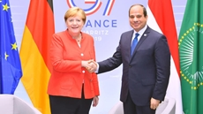 Egypt's President Abdel Fattah  al-Sisi met on Sunday with German Chancellor Angela Merkel, on the sidelines of the G7 summit held in France.