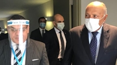 Egypt's Foreign Minister Sameh Shoukry arrived in Beirut Tuesday to show solidarity after Lebanon's devastating port explosions.