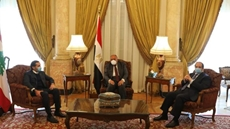 Egypt's FM, General Intelligence chief meet Lebanese acting PM, stress Egypt's stance in supporting security in Lebanon