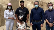 US cancer patient achieves her dream by visiting Egypt's Giza Pyramids