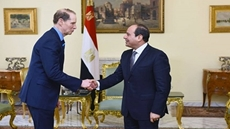 Egypt's President Abdel-Fattah El-Sisi and Ronald Lee Wyden, the senior United States Senator for Oregon