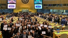 The Cairo International Model United Nations (CIMUN) delegation of The American University in Cairo (AUC) received a record-breaking 19 awards at the National Model United Nations conference recently held in New York.