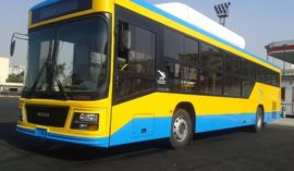Egypt rolls-out 4 locally made gas-fueled buses
