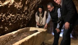 Minister of Antiquities Announces The Discovery of Mummy-filled burial chambers in Minya